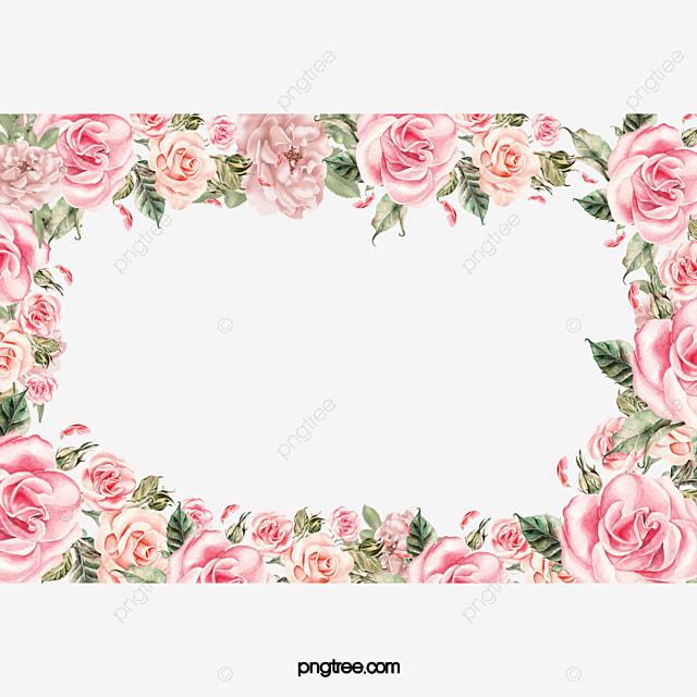 material moldura de flores moldura flores material png