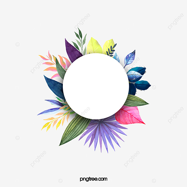 Hand Painted Watercolor Floral Frame Colored Flowers Map PNG And Vector