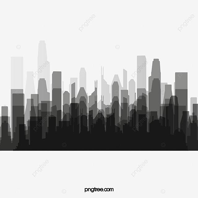 noir et blanc de silhouette ville noir et blanc ville