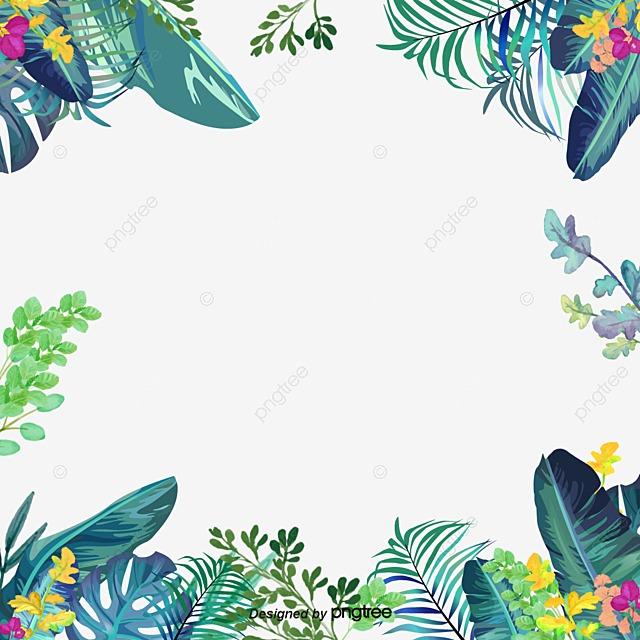 Green Summer Small Fresh Border Summer Border Summer Taobao Poster Border PNG And PSD File