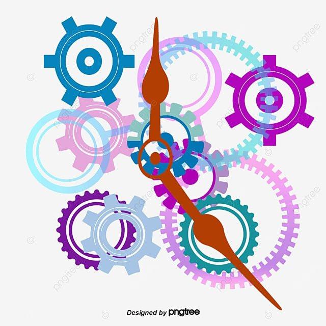 color gear clock color vector gear vector clock vector