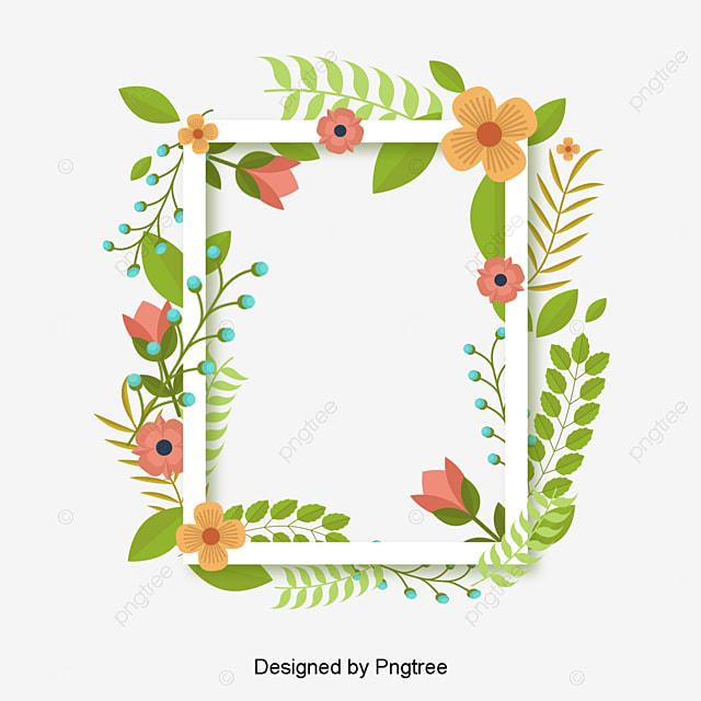 L été Vert De Plantes De Vecteur De Bordure Bordure Vecteur