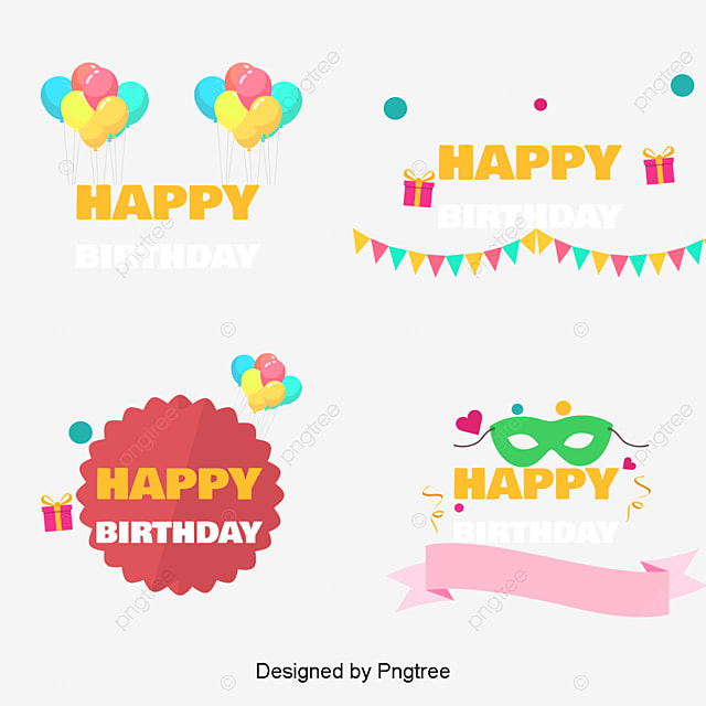 Candle Cake Birthday Card Vector Material Birthday Party Birthday
