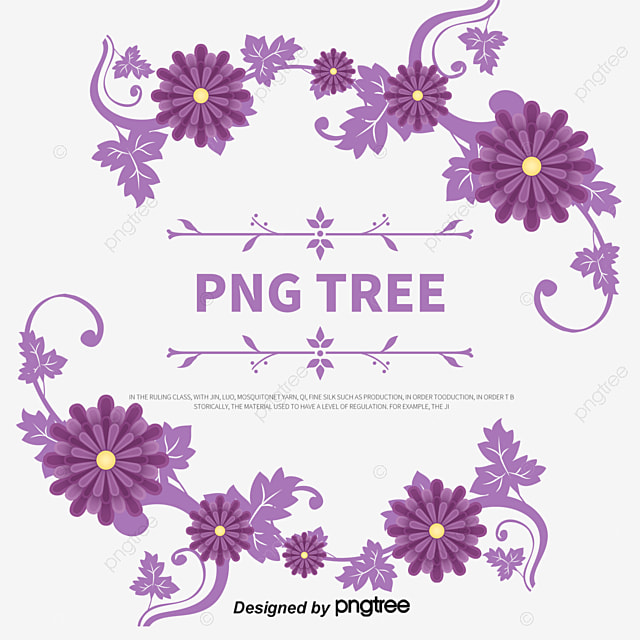 Blue And Purple Morning Glory Vector Material Dream Flower Borders Free PNG