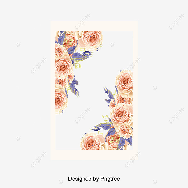 beautiful little fresh border vector material flower borders beautiful border small fresh border