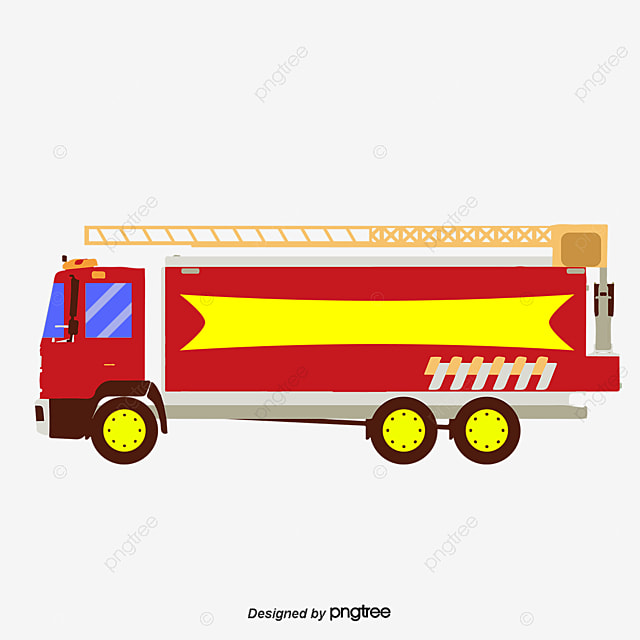 سيارات إطفاء رائعة بخير حريق شاحنة كرتون Png وملف Psd للتحميل مجانا