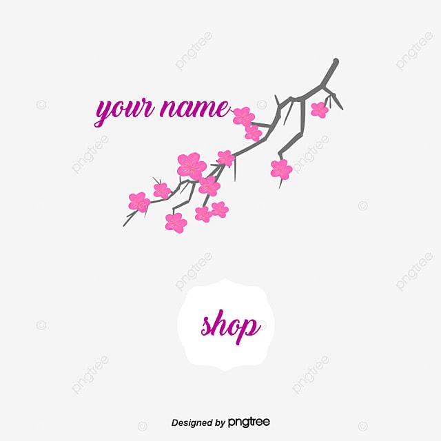 Fleur De Vigne Sakura Carte Visite Personnelle Gratuit PNG Et Vecteur
