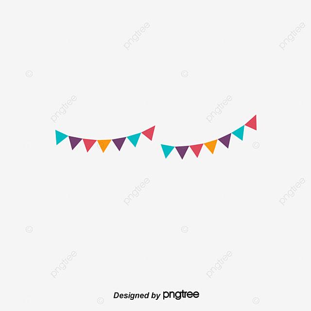 triangular flag decoration  vector material  banner