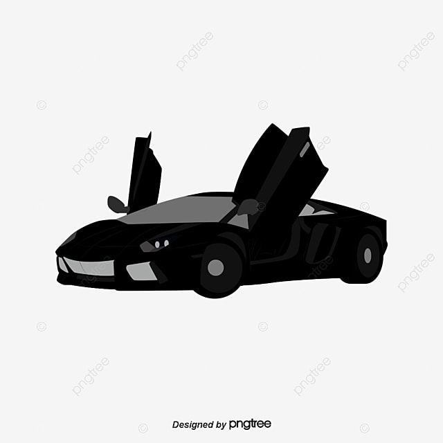 Lamborghini Black Sports Car Black Vector Car Vector Sports