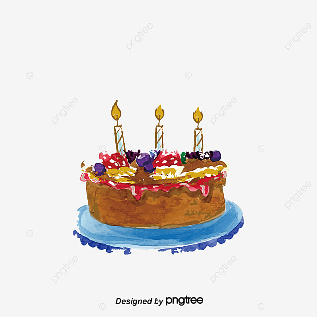 Birthday Cake Vector Cake Candle Candlelight PNG and Vector for
