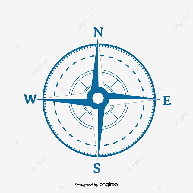 Blue Compass Vector Material Compass Blue Vector Diagram Png And