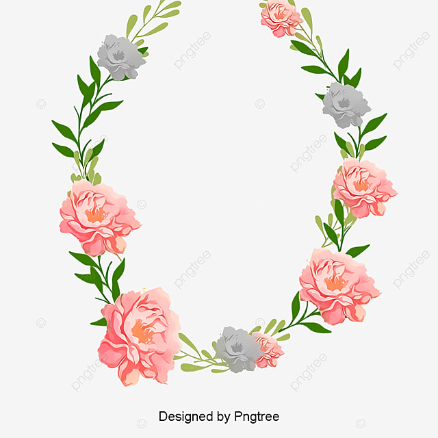 handpainted lace frame simple and elegant flower