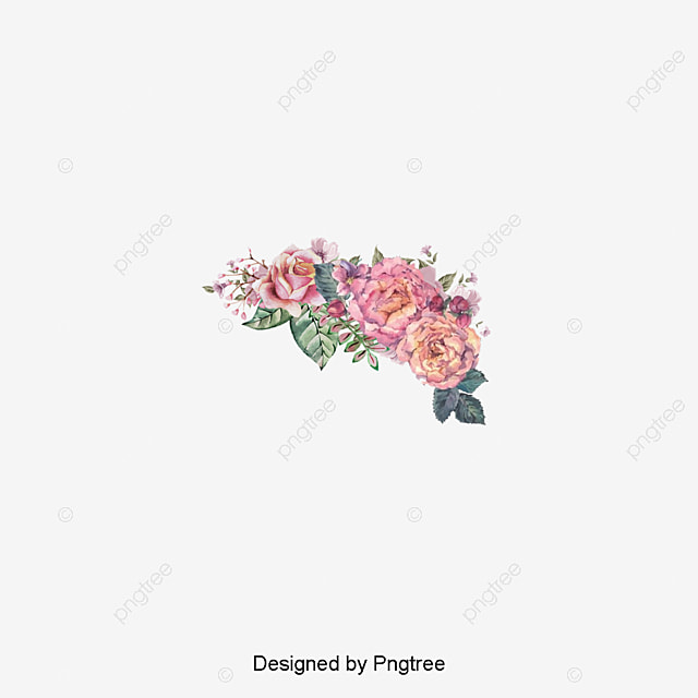 Pink ink flowers flowers material watercolor flowers pink flowers pink ink flowers flowers material watercolor flowers pink flowers png image and clipart mightylinksfo