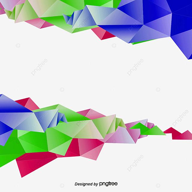 Color low polygon border, Vector Material, Low Polygon, Color Border PNG and Vector for Free ...