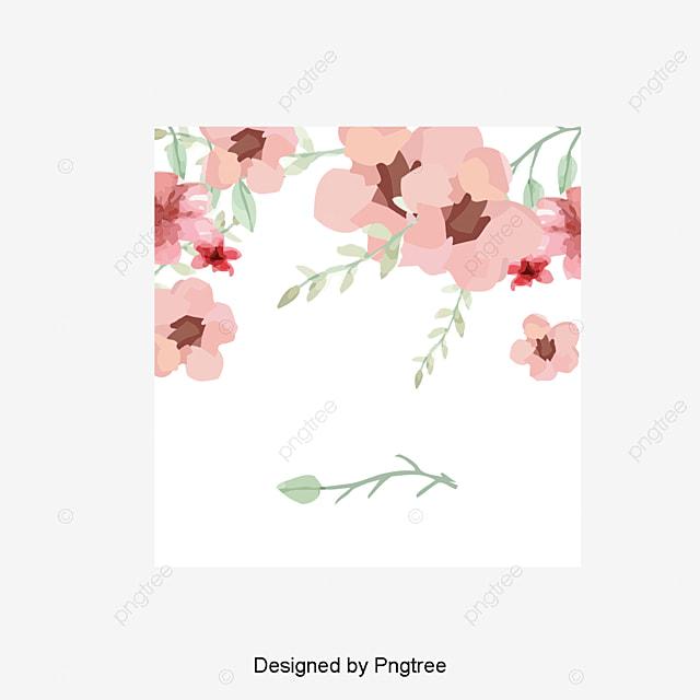 Vector Flores Convites Convites Casamento Casamento Png E: Watercolor Flowers Vector Pink Acuarela Flores PNG Y