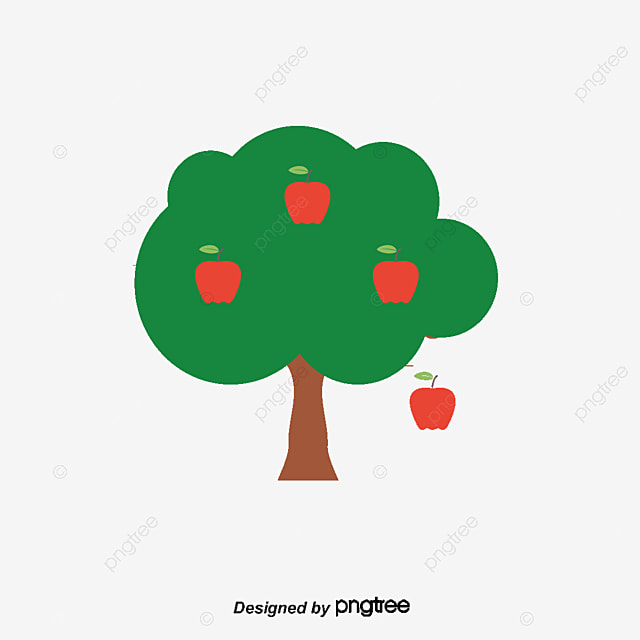 Hand Painted Apple Tree Apple Vector Tree Vector Tree Clipart Png