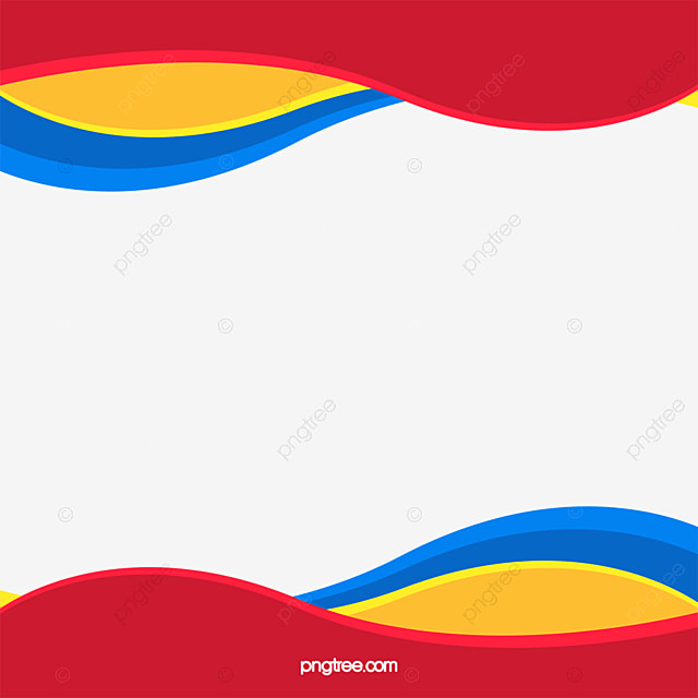 Free Download Png And Vector: Three Primary Colors Wave Border, Wave Vector, Border
