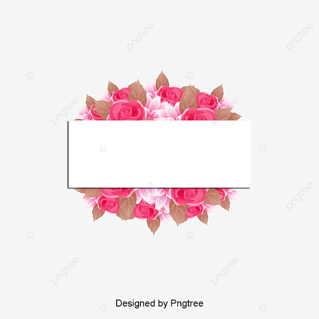 Pink Watercolor Flower Borders Flower Borders Creative