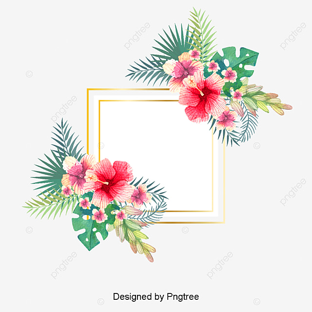 Hand Painted Watercolor Summer Floral Background, Summer