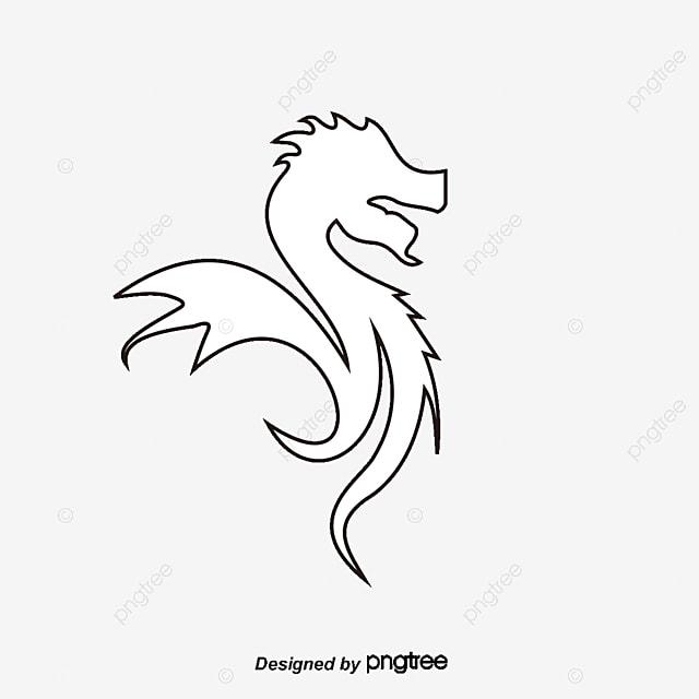 Pintado A Mano De Dragon Volador Vector De Material Dragon Dragón ...
