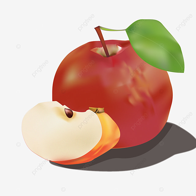 apple flesh half apples cut open leaf png image and