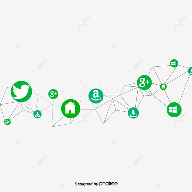 Abstract Social Networking Vector Material Social Network