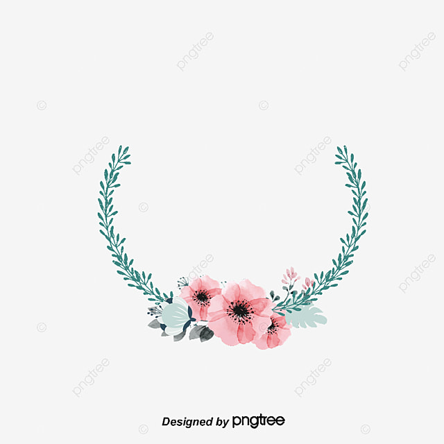 azul acuarela flor marco decorativo azul acuarela