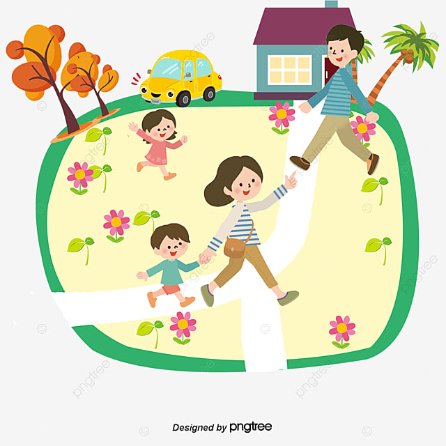 Happy Family Walking Outdoors Clipart Royalty Free Cliparts, Vectors, And  Stock Illustration. Image 61633187.