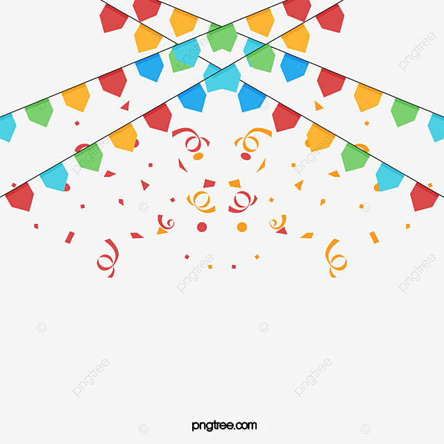 colorful triangular flag  vector png  banner ornaments