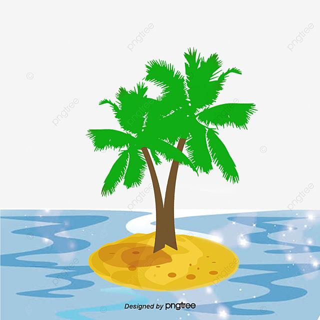 Island Cartoon Vector Summer Summer Cartoon Png And