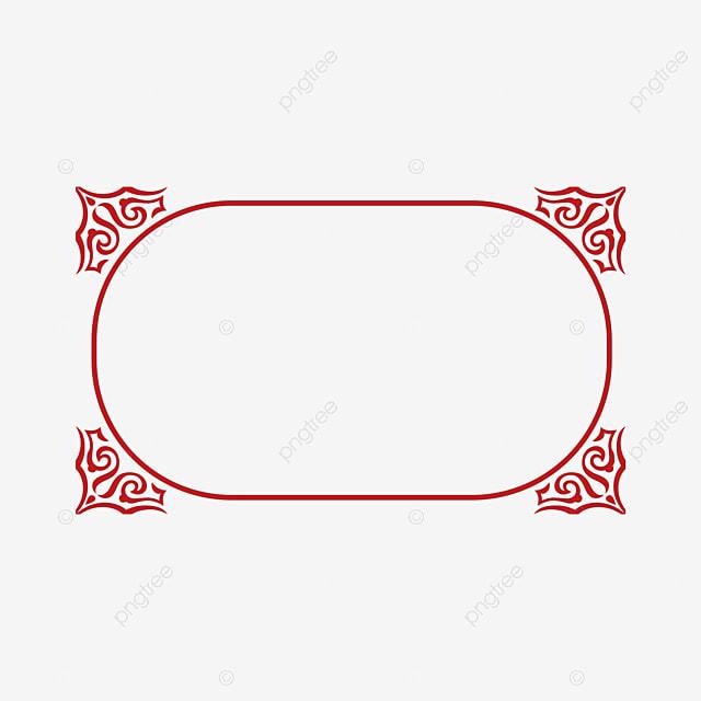 Simple Linea Marco Rojo, Rojo, Simple, Línea Imagen PNG para ...