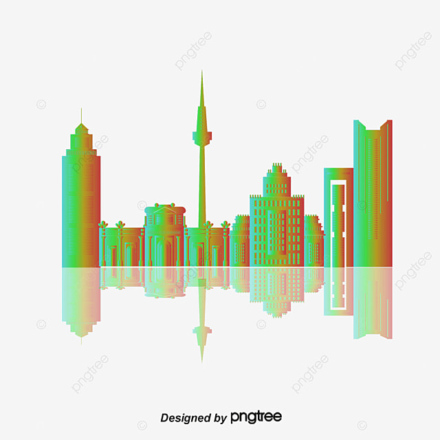 City Buildings Vector Art