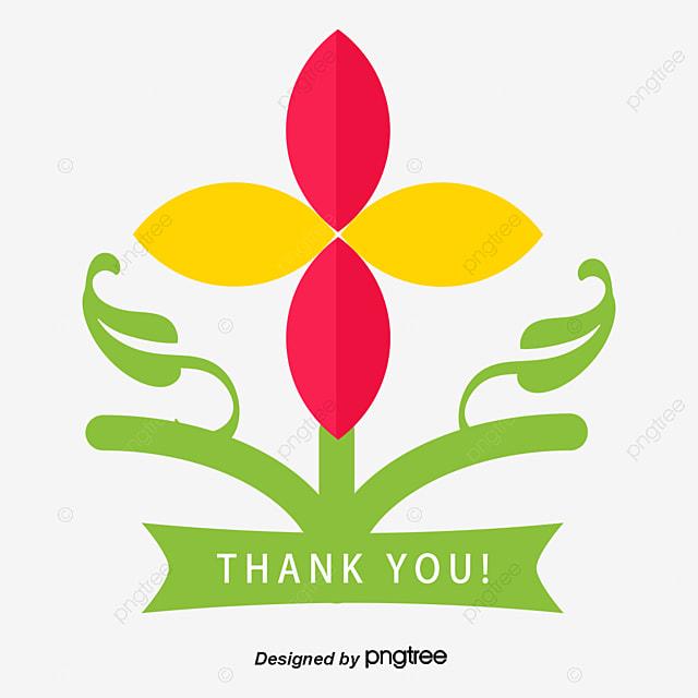 Flor Cor De Rosa Graças Ao Título Da Caixa Vector Png Desenhos De