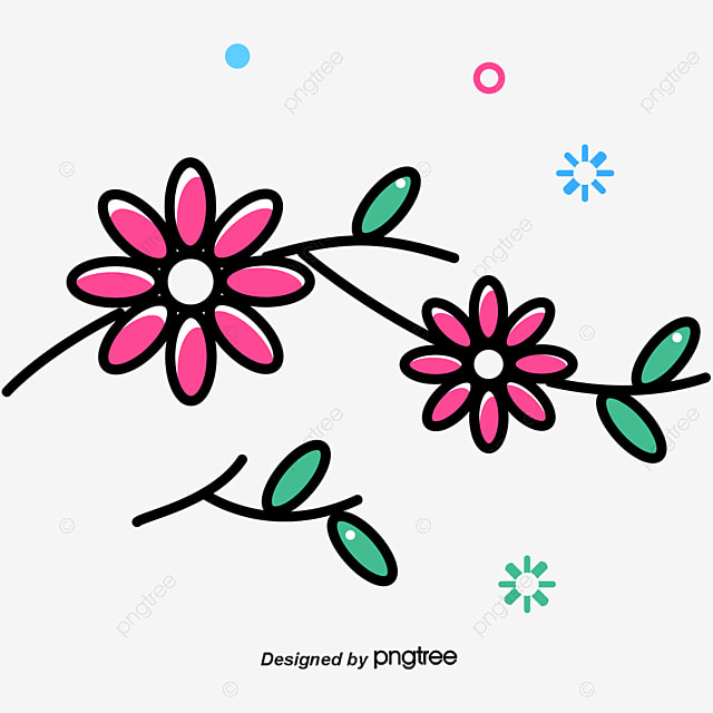 Light Blue And Freshly Decorated Flowers Vector Png Decorative Free PNG