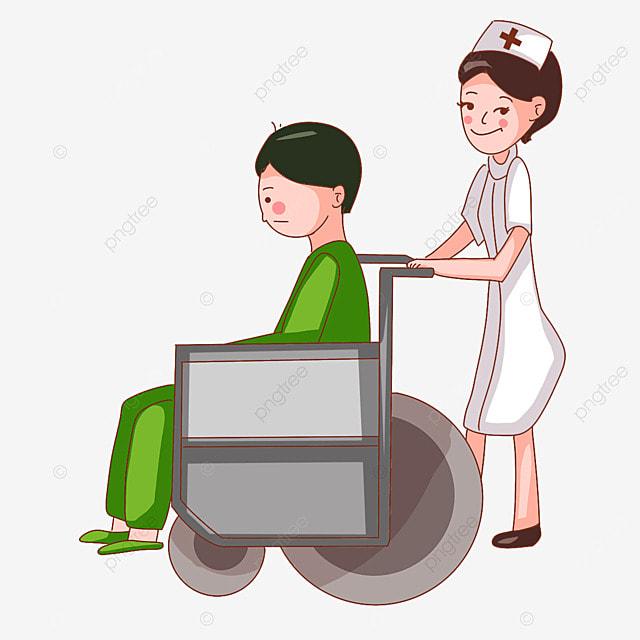 Resultado de imagen de empujando la silla de ruedas