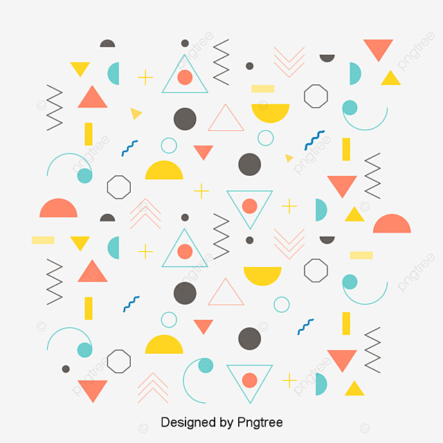Abstract Geometric Pattern, Vector Png, Pattern, Cartoon