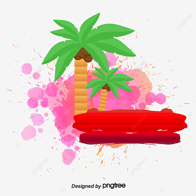 watercolor decoration watercolor tree vector png and