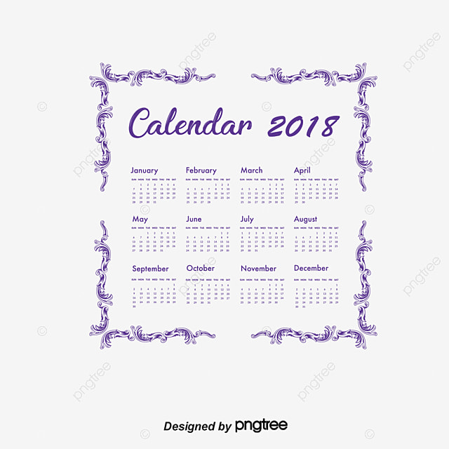 le calendrier europ u00e9en lace violet le vecteur de png ann u00e9e