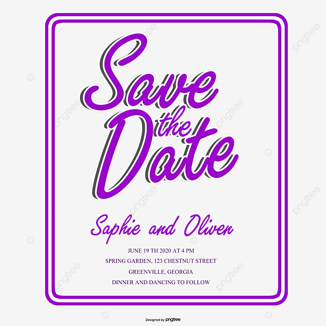 Purple Simple Invitation Letter Letter Vector Vector Png Wedding