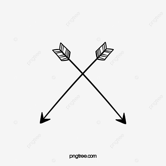 Cross arrows, Two, Arrow, Arrow Tail PNG Image for Free Download
