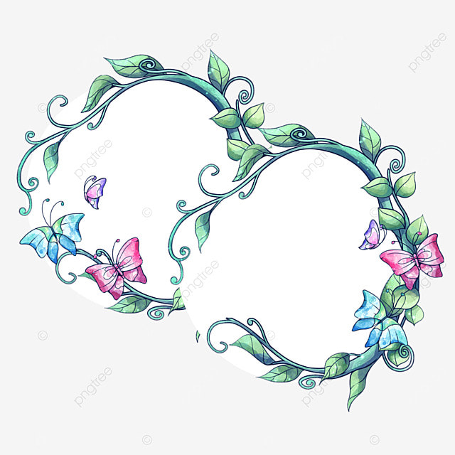 Romantic butterfly decoration couple picture frame vector png romantic butterfly decoration couple picture frame vector png wedding photo frame invitation card junglespirit Images