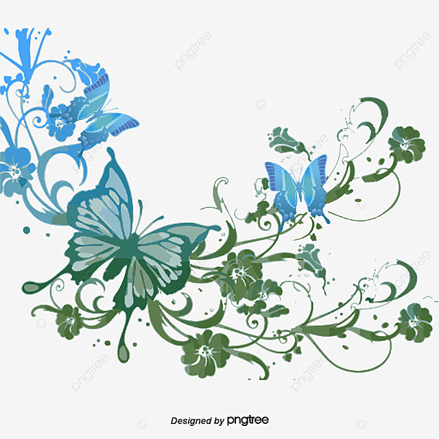 Butterfly Pattern Border, Butterfly, Pattern, Frame PNG and Vector ...