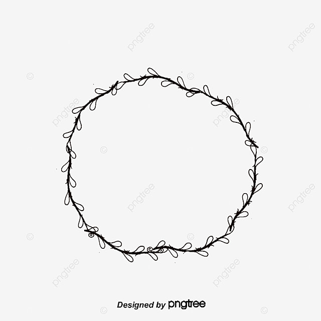 simple tree rattan wreath vector png small fresh pattern