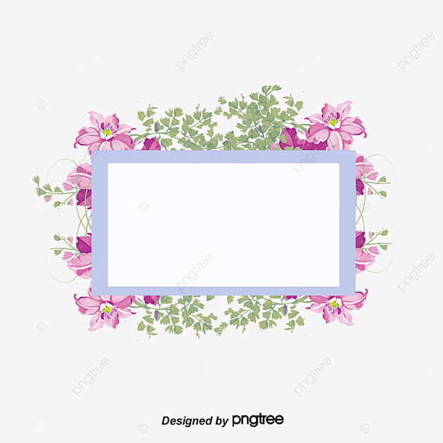 Watercolor Purple Flowers Borders Vector Png Hand Painted Wind PNG