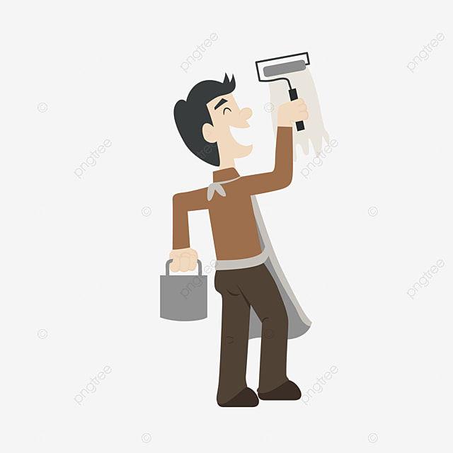 Cartoon Pastor Cartoon Clipart Painter Paint The Workers Png