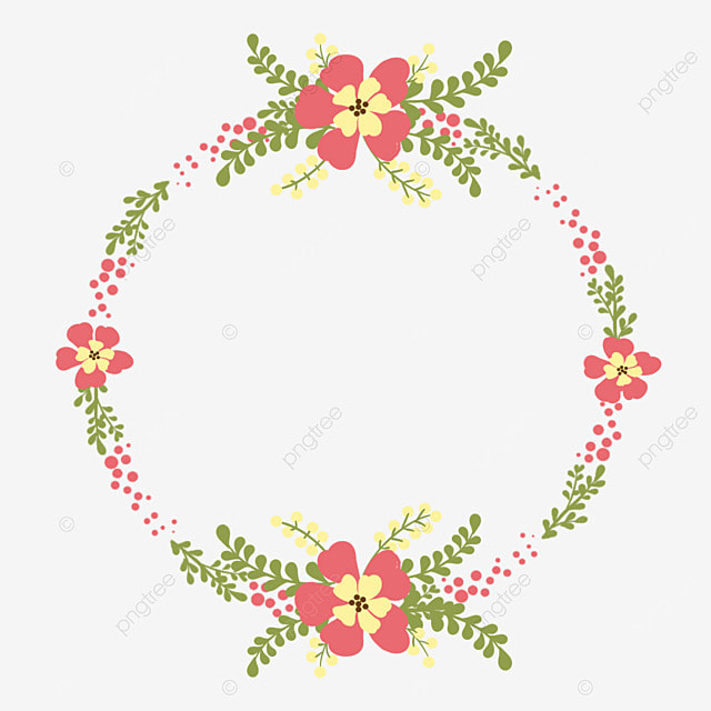 Flower Frame Vector, Wreath, Hand Painted, Flowers PNG and Vector ...