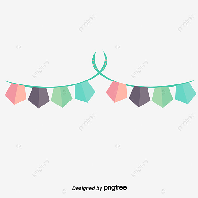 Birthday Party Decoration Hanging Flag Vector Png Cartoon Birthday