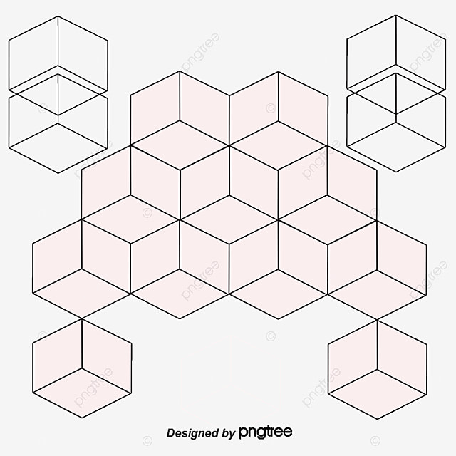 Vector fashion simple white cubes combined background for 3 dimensional cube template