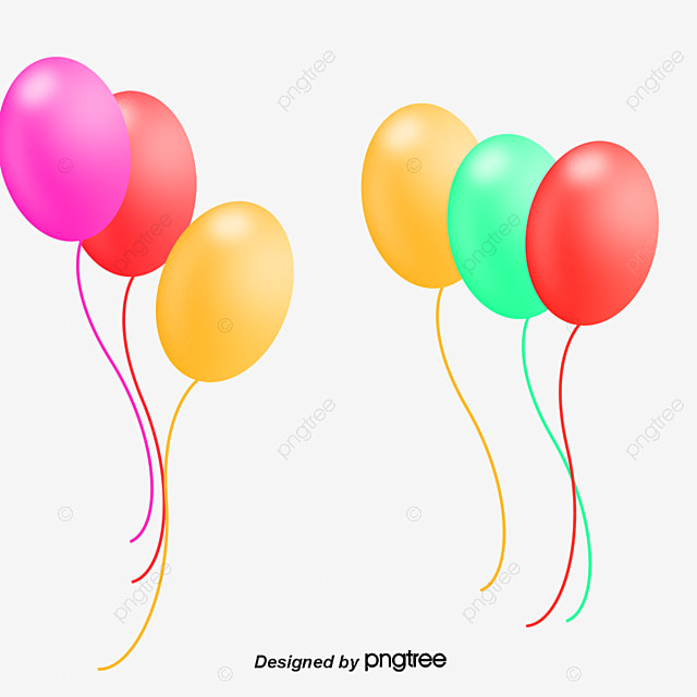 Birthday Party Decoration Color Balloon Vector Png