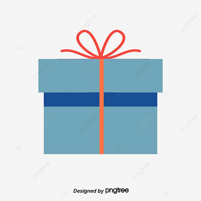 Cartoon Birthday Gift Small Box Vector Png